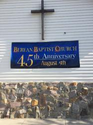 Banner on Front of Church